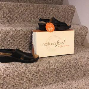 Natural Soul comfort black  sandals  8